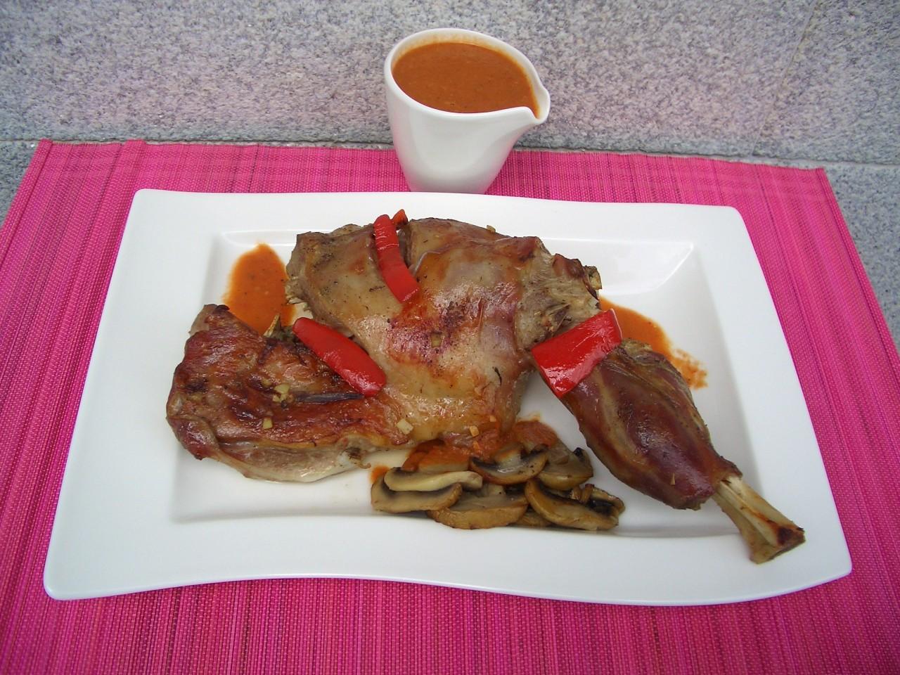 Paletilla de cordero al horno – Roast lambshoulder