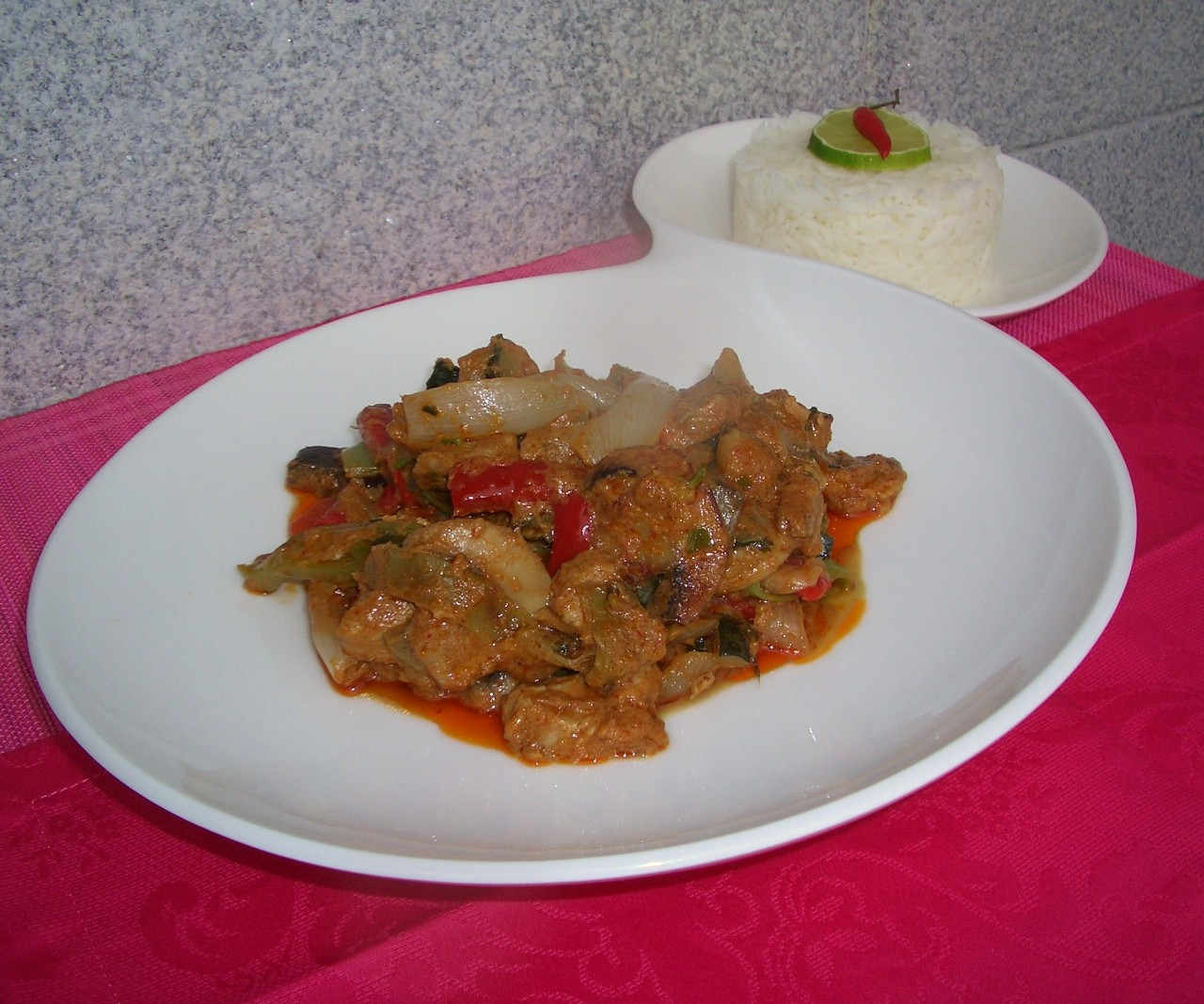 Curry rojo de solomillo de cerdo – Pork sirloin red curry