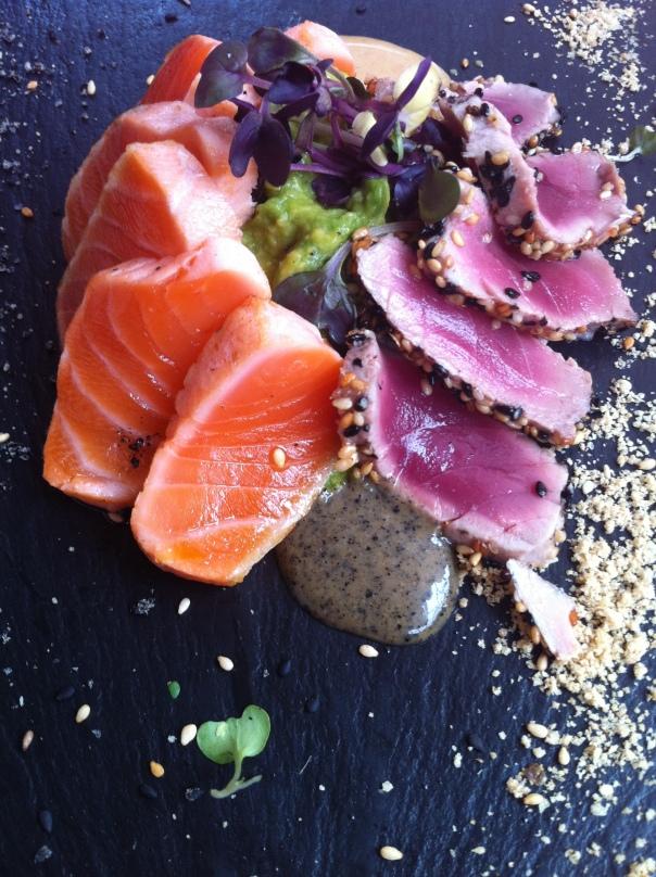 Tataki de salmón y atún