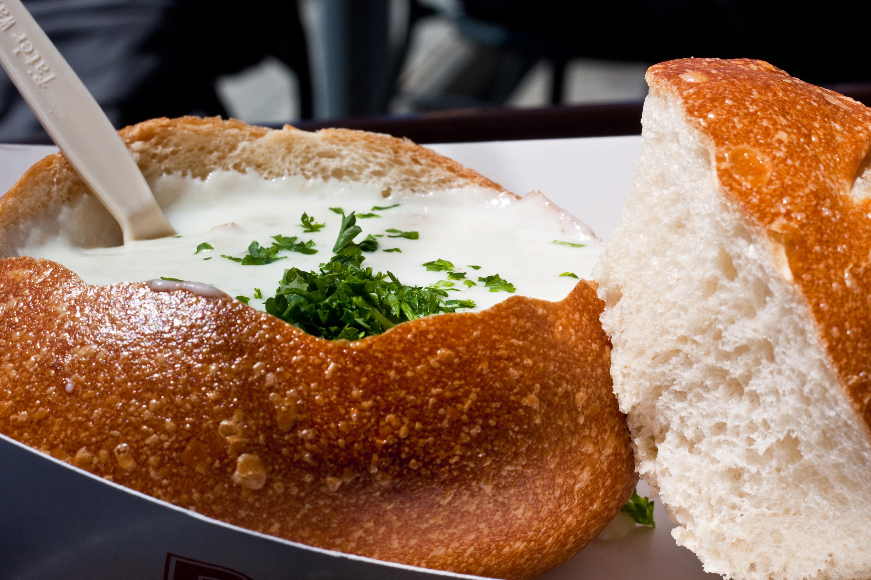 Sopa espesa de almejas new england clam chowder fuego for American cuisine san francisco