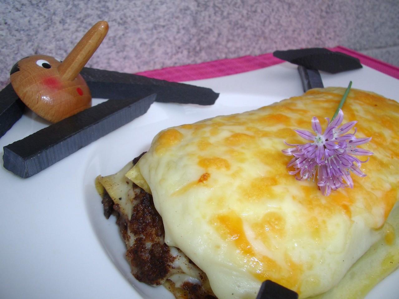 Lasaña de Morcilla de Burgos – Rice blood sausagelasagna