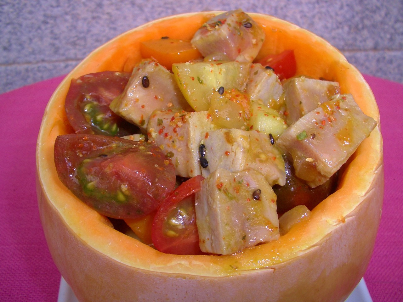 Ensalada de Atun Rojo y Calabaza – Red Tuna and Pumpkin Salad