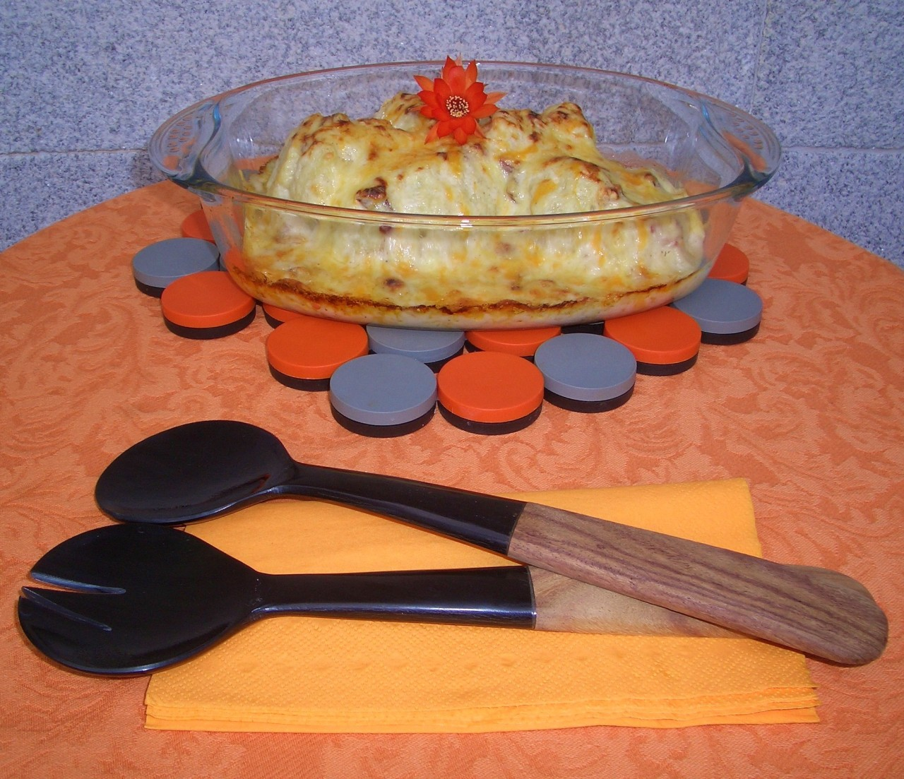 Coliflor con Bechamel y Jamón – Cauliflower with Bechamel and Ham