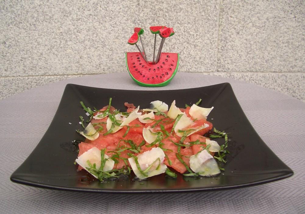 Carpaccio de Sandía - Watermelon Carpaccio (1/6)