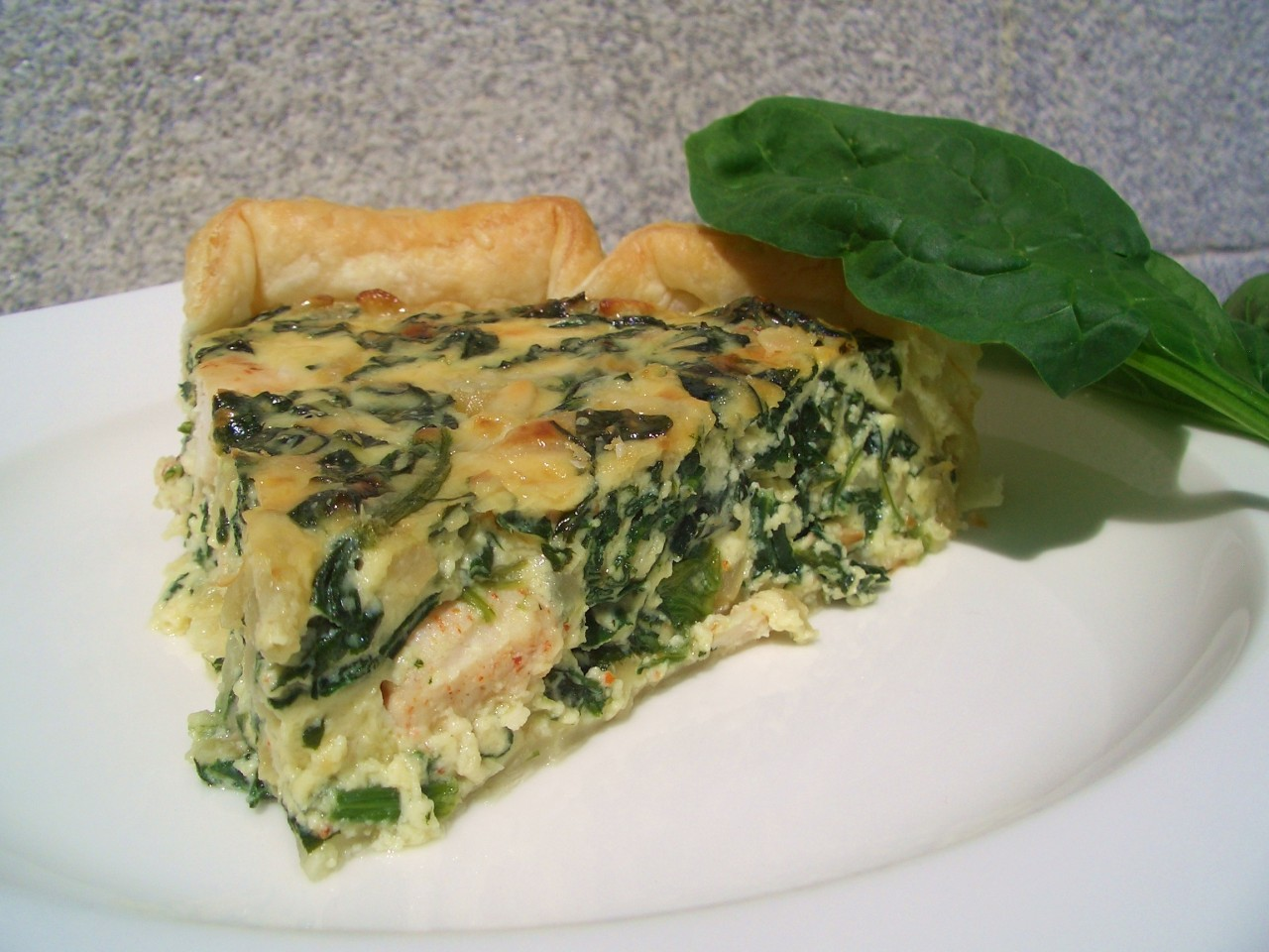 Tarta de Espinacas y Pollo – Spinach and Chicken Cake