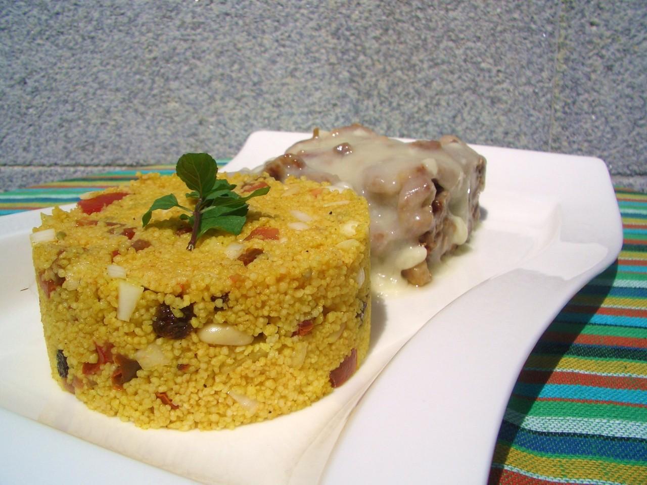 Costilla de Cerdo con Torta del Casar y Tabule Marroquí – Pork Rib with Cheese and MoroccanTaboule