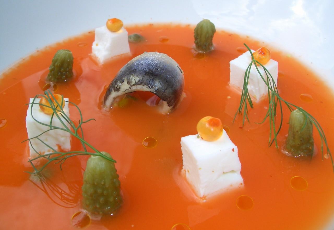Sopa fría de Zanahoria con Encurtidos – Carrot ColdSoup