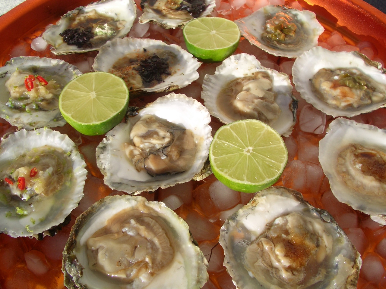 Ostras Variadas – Assorted Oysters
