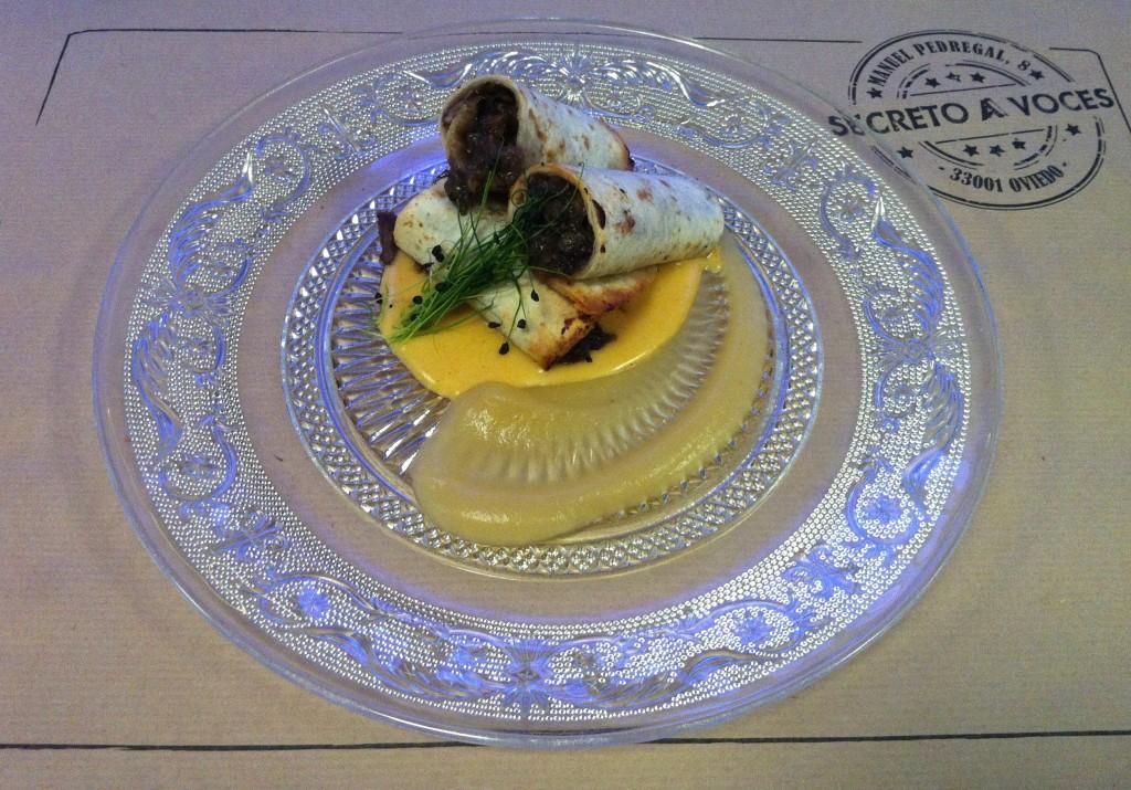 Segundo: Cochinitas de carrillera ibérica con crema de patata.