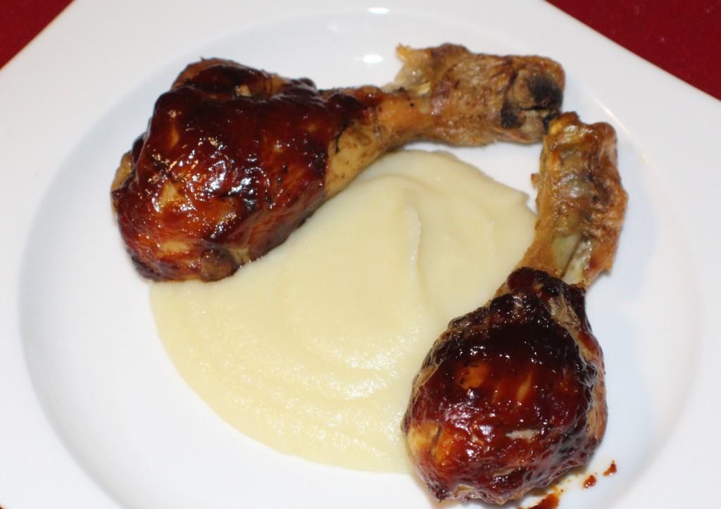 Pollo Yankee Style con crema de coliflor