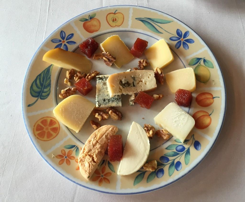 Tabla de quesos asturianos.