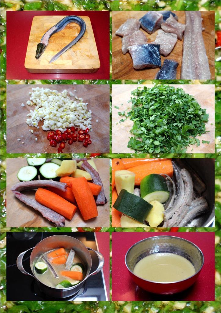 Anguila salsa verde