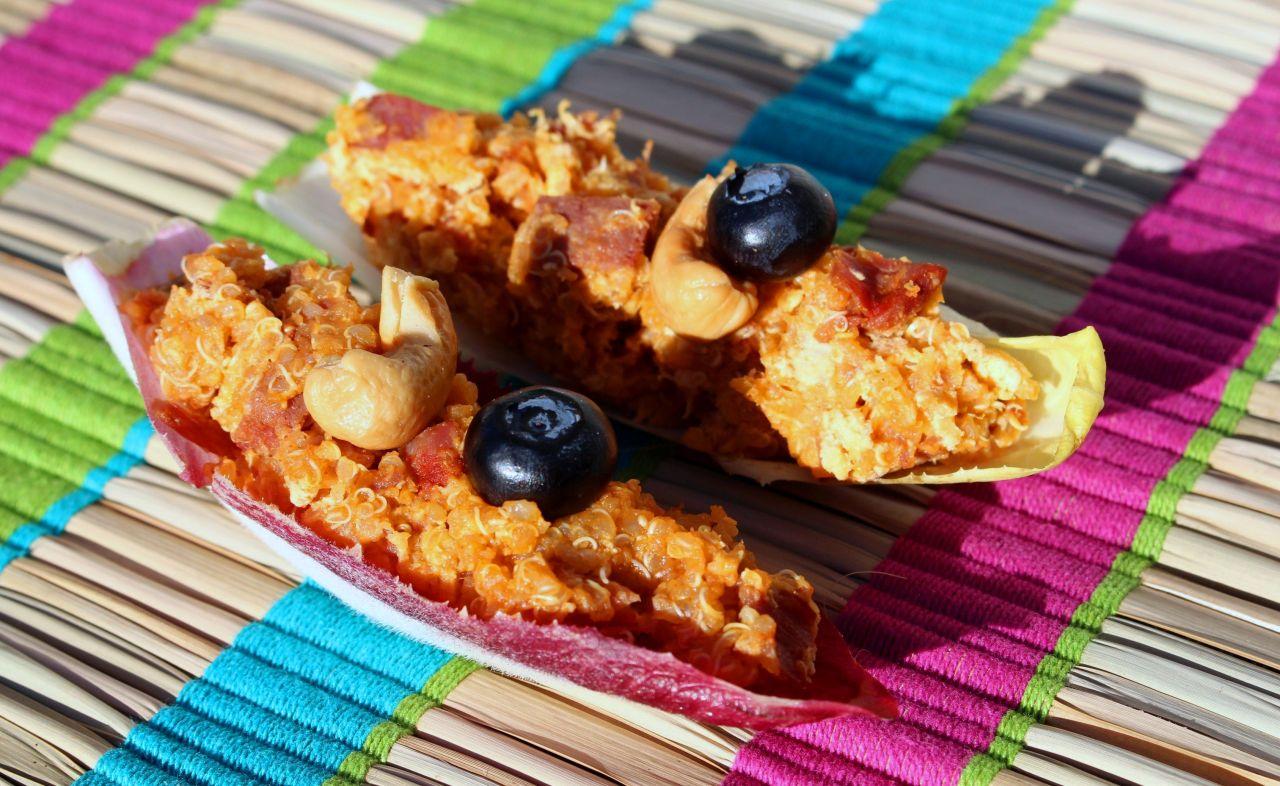 Endibias con Quinoa, Chosco, Afuega'l Pitu y Pulpa deTamarindo
