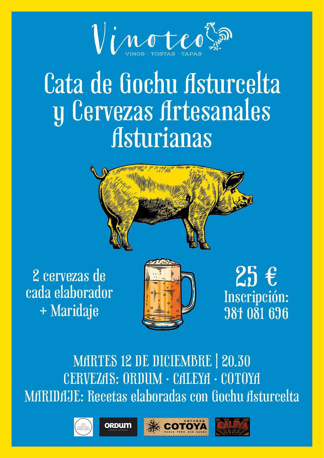 Cata de Gochu Asturcelta y Cervezas ArtesanasAsturianas