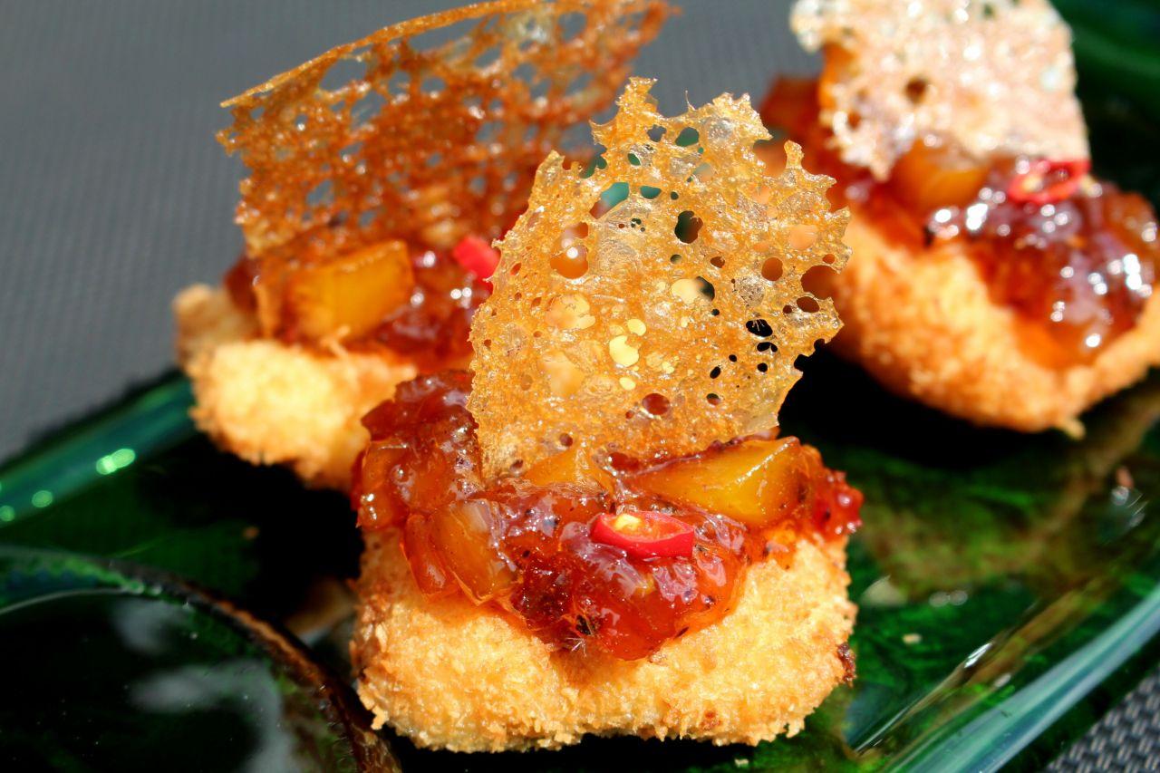 Fritos de Xarda con Miel yCoco
