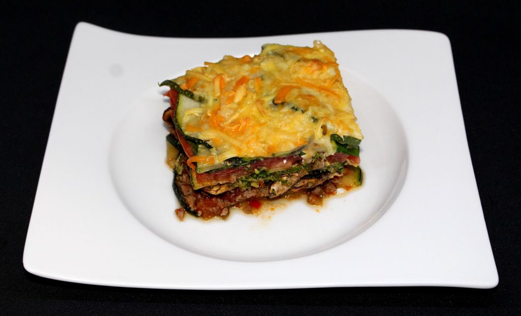 Lasaña de verduras y carne sin pasta