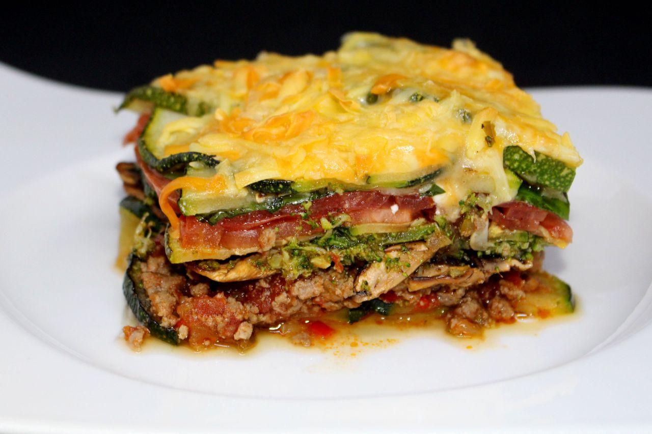 Lasaña de Verduras y Carne sinPasta