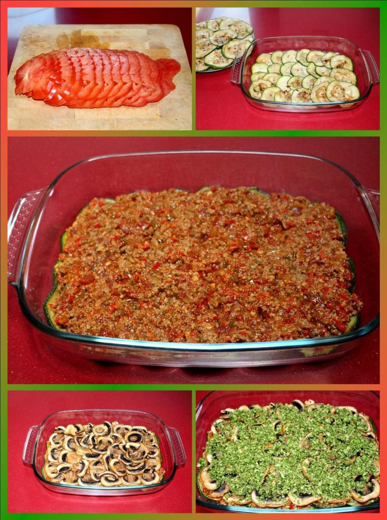 Lasaña de verdura y carne sin pasta