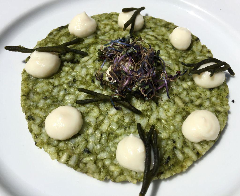 arroz tostado con algas