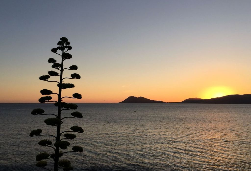 Puesta de sol en Caveiro