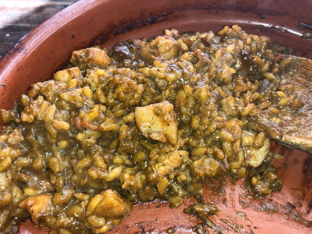 arroz de plancton y ortiguillas
