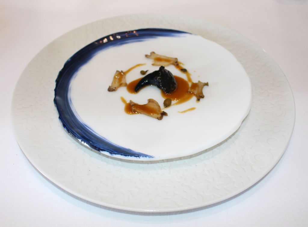 abalon, mantequilla, setas