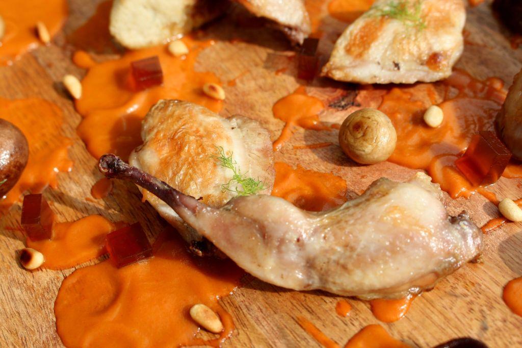Codornices al vermut