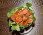 salmón curado
