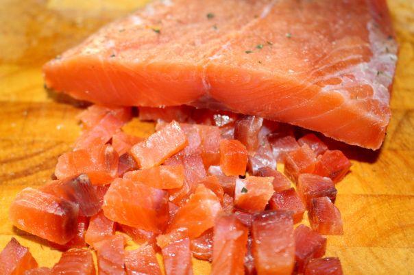salmón curado 15 días