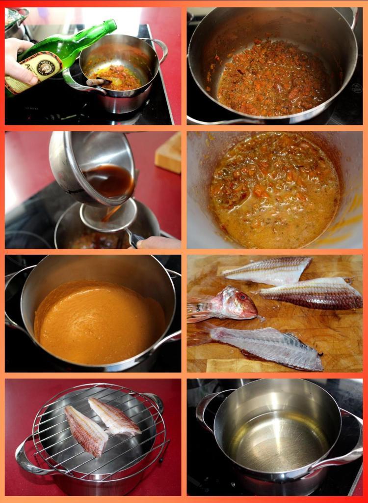 Salmonetes Berasategui con crema de oricios y cardo