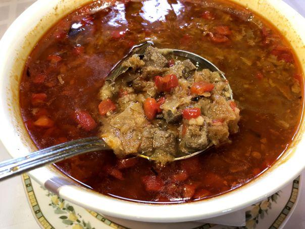 sopa de hígado