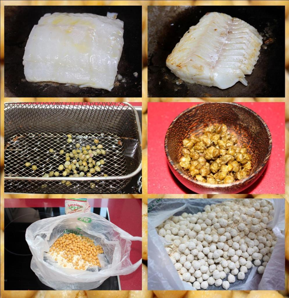 Ensalada de garbanzos, bacalao y espinacas