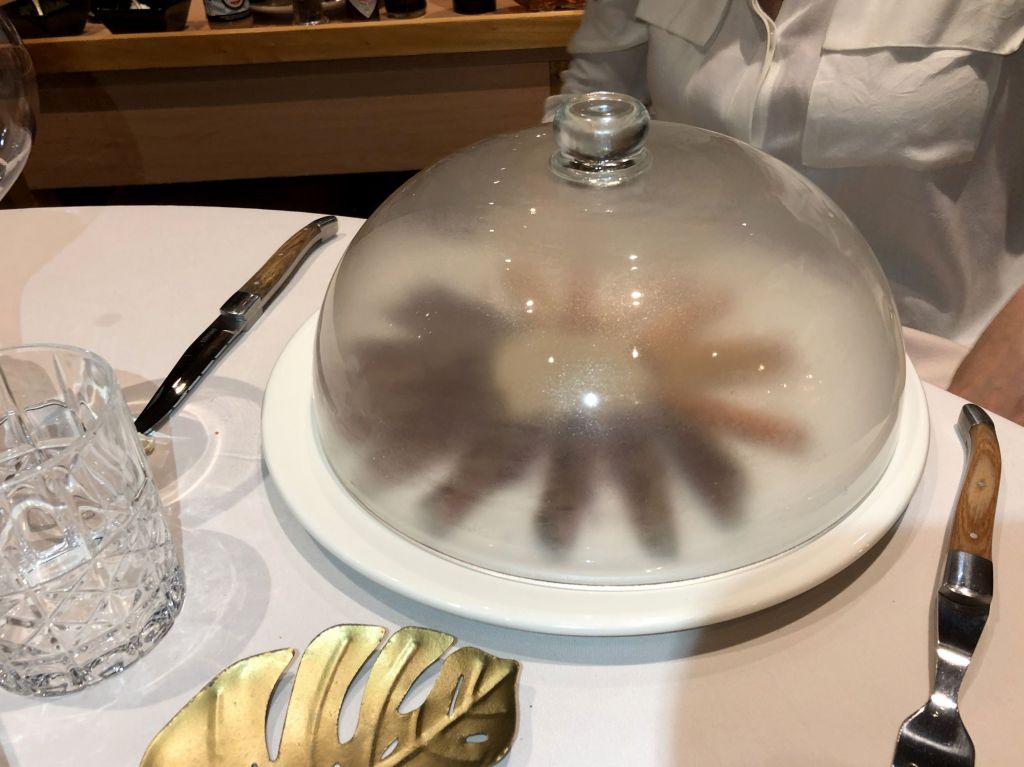 Lomo al humo de tomillo