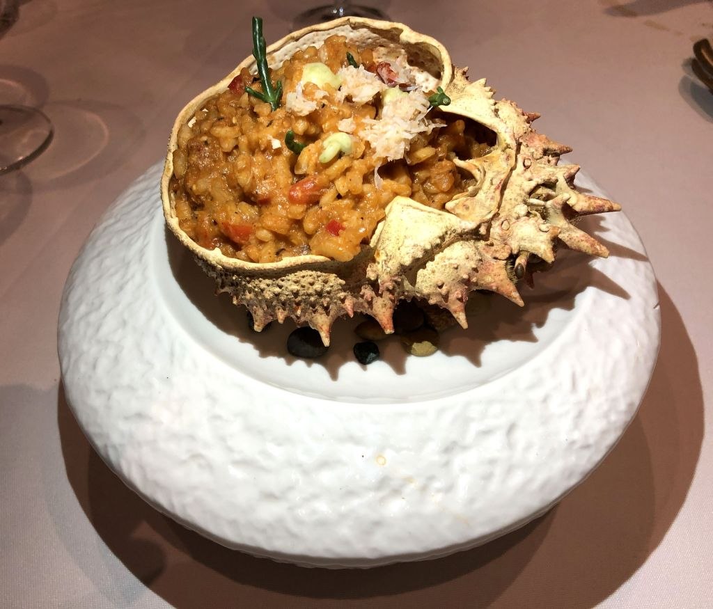 arroz meloso de centollo