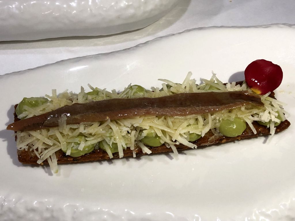 Tosta de anchoas