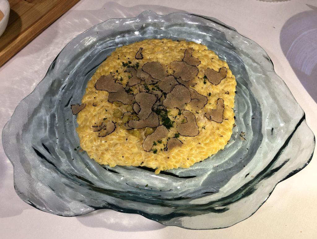 Falso risotto con trufa blanca