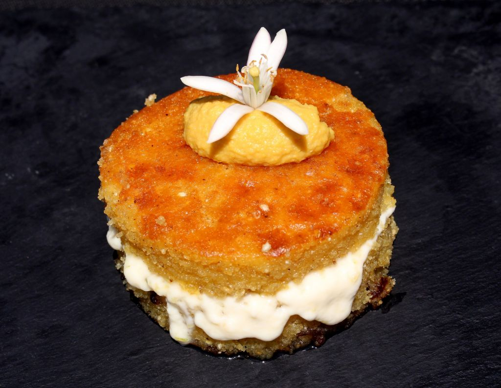 Tarta de choclo al pisco sour