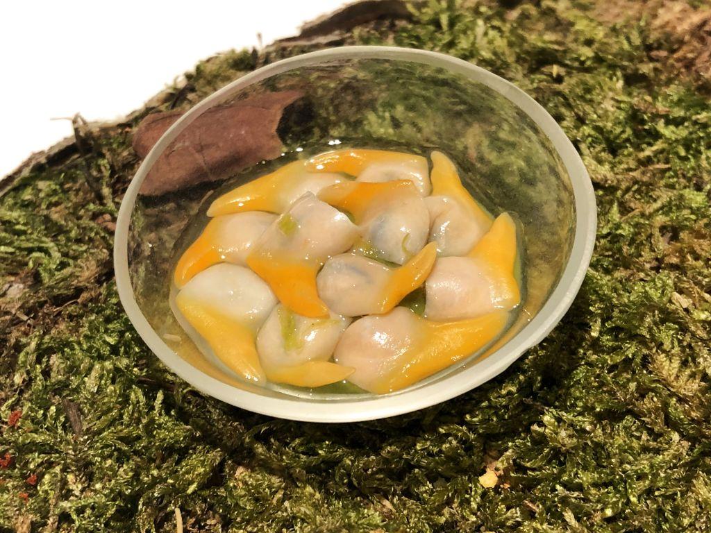 Berberechos y ceviche de perejil