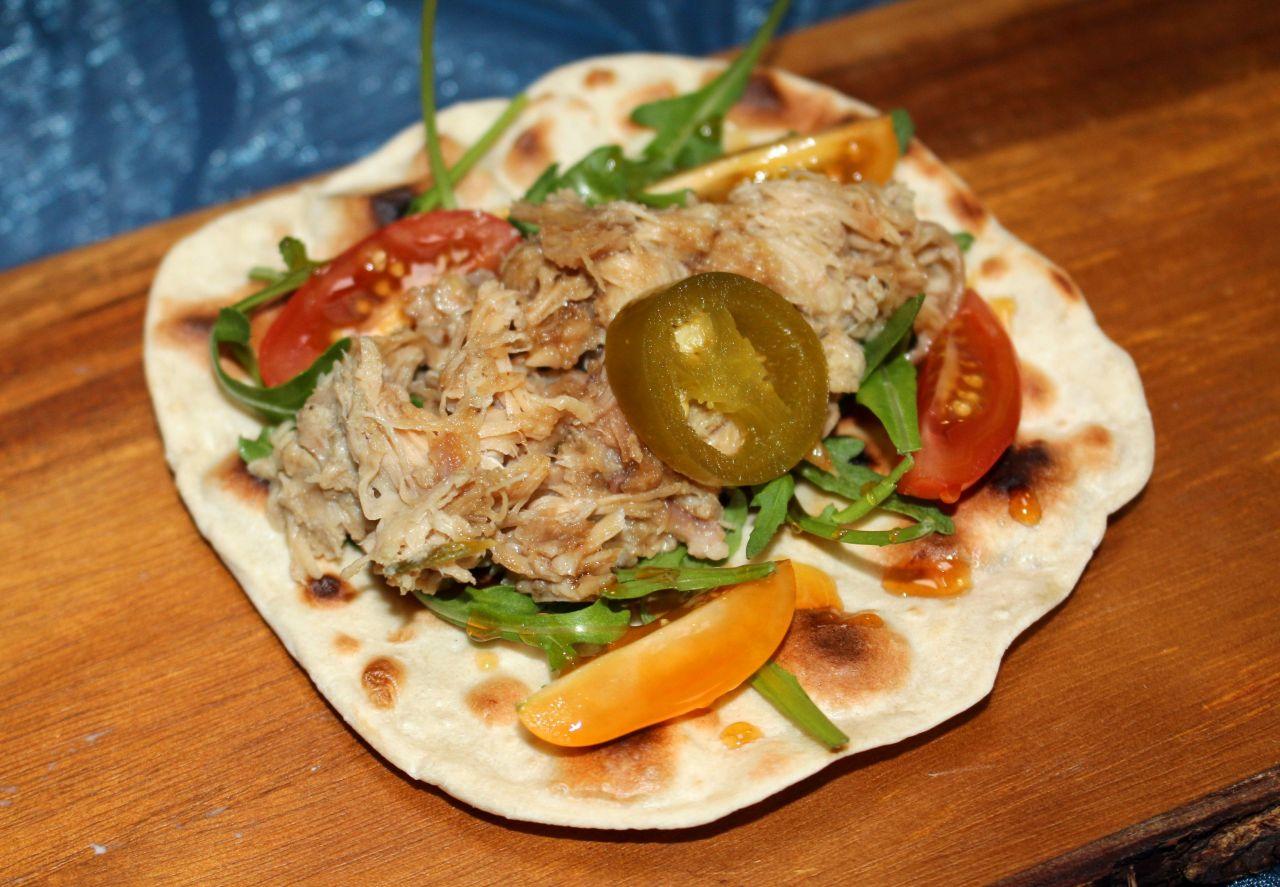 Tacos de Conejo a la Mostaza, Romero yMiel