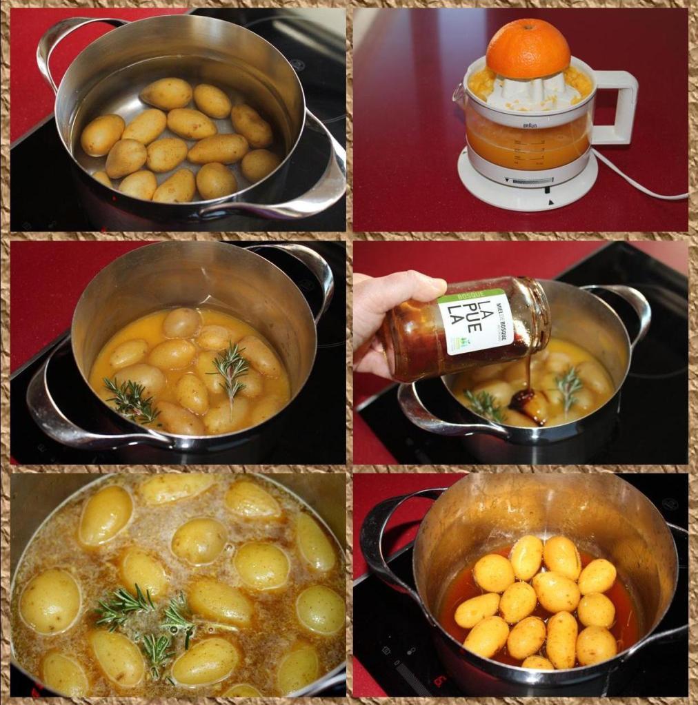 Patatas a la miel y romero