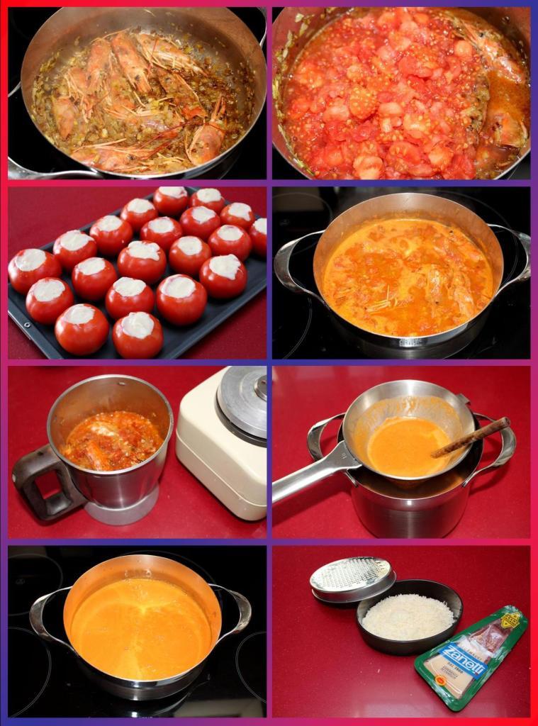 Tomates Rellenos de Langostinos