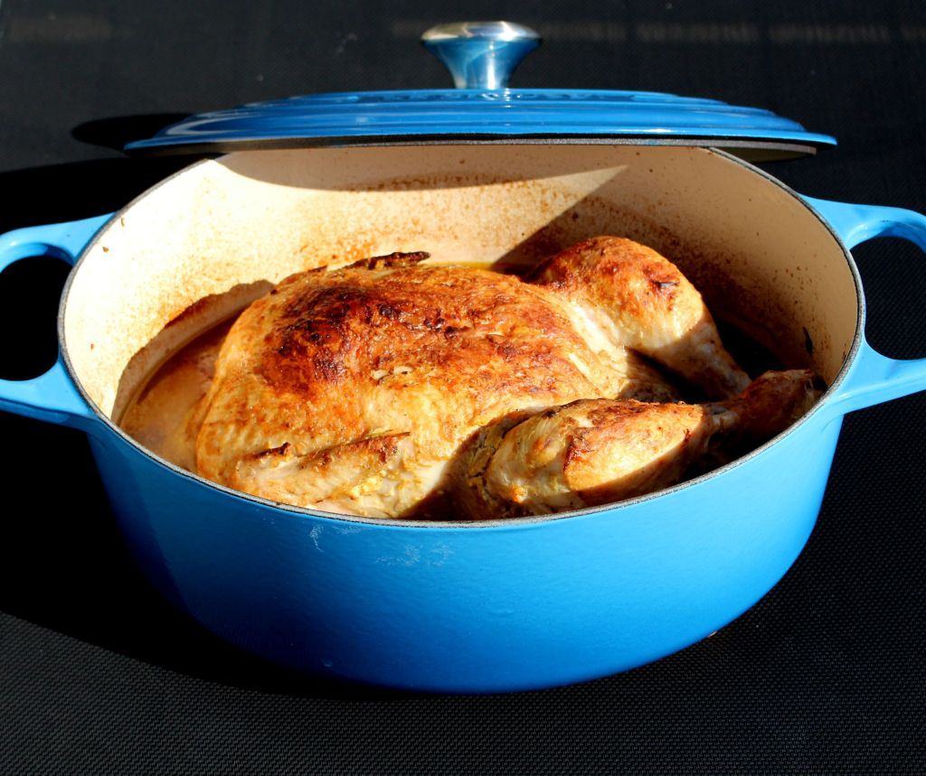 Pollo en Cocotte con Frutos Rojos