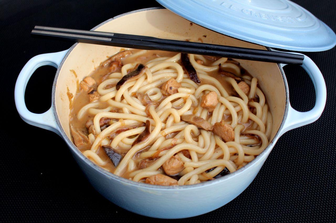 Sopa de Udon con Pollo yShiitake