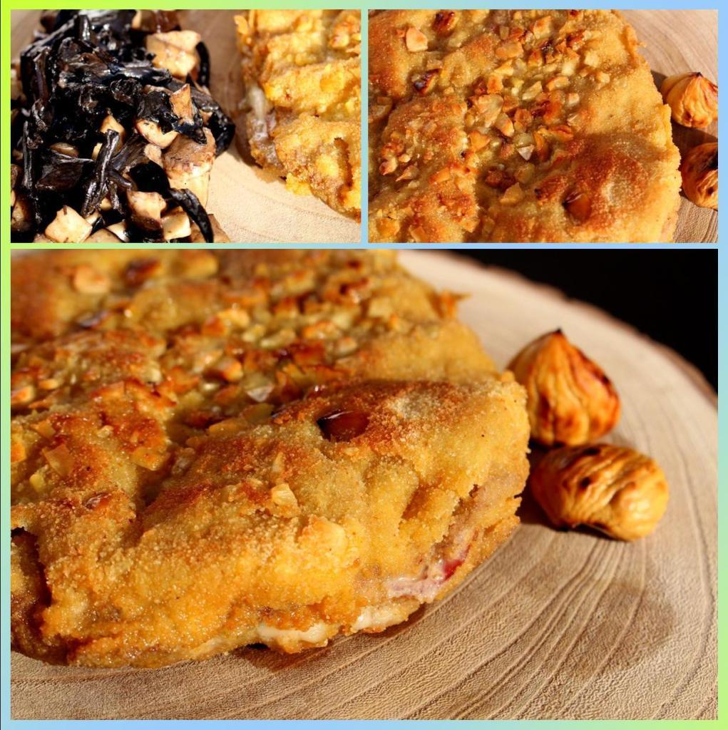 Cachopo de Pastrami, Panceta, Trufa y Castañas