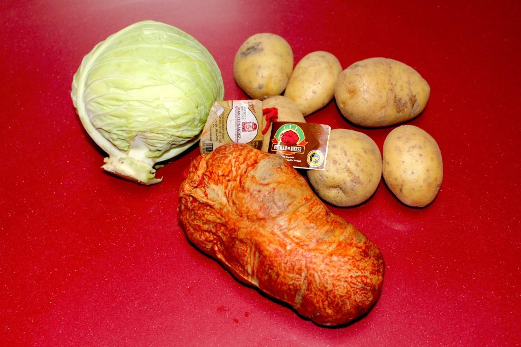 Botillo con Repollo y Patatas