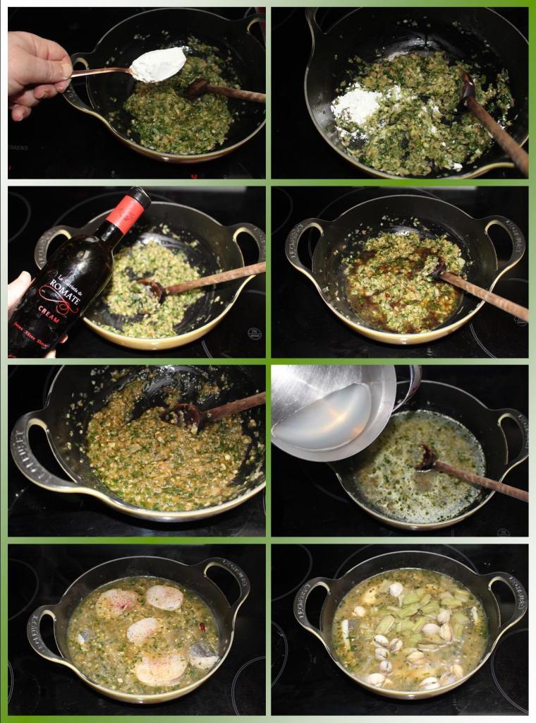 Merluza en Salsa Verde con Berberechos y Cardos