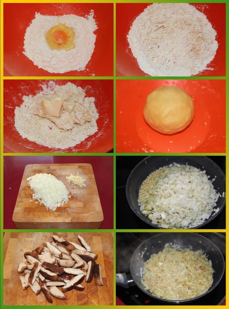 Quiche de Pollo al Pesto con Setas