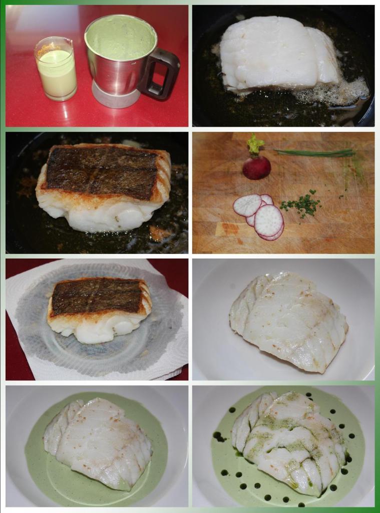Bacalao con Salsa de Cebollino y Plancton