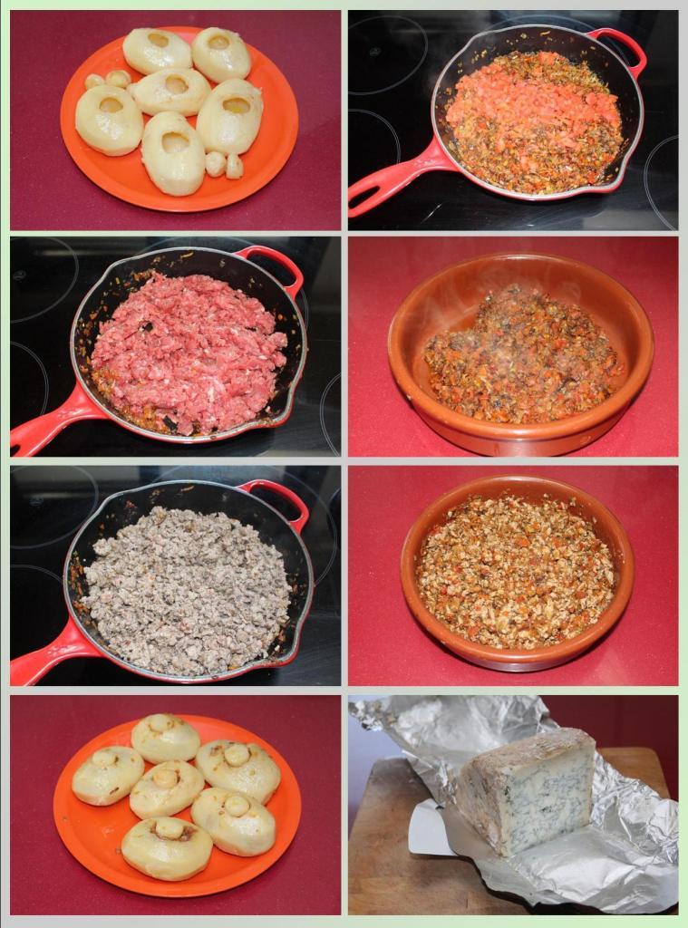 Patatas Rellenas de Carne con Salsa de Cabrales
