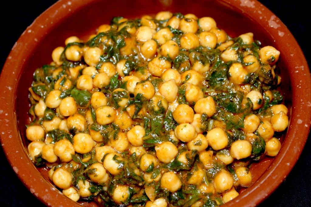 Cazuelita de Garbanzos con Espinacas
